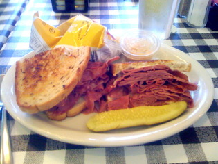 Luna's in Macedonia - Corned Beef sandwich