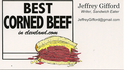 Best Corned Beef in Cleveland dot com Business Card