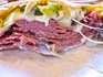 Tommy's Cigar - Corned Beef Sandwich (pita) - opened