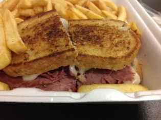 Huron Square Deli Corned Beef Sandwich
